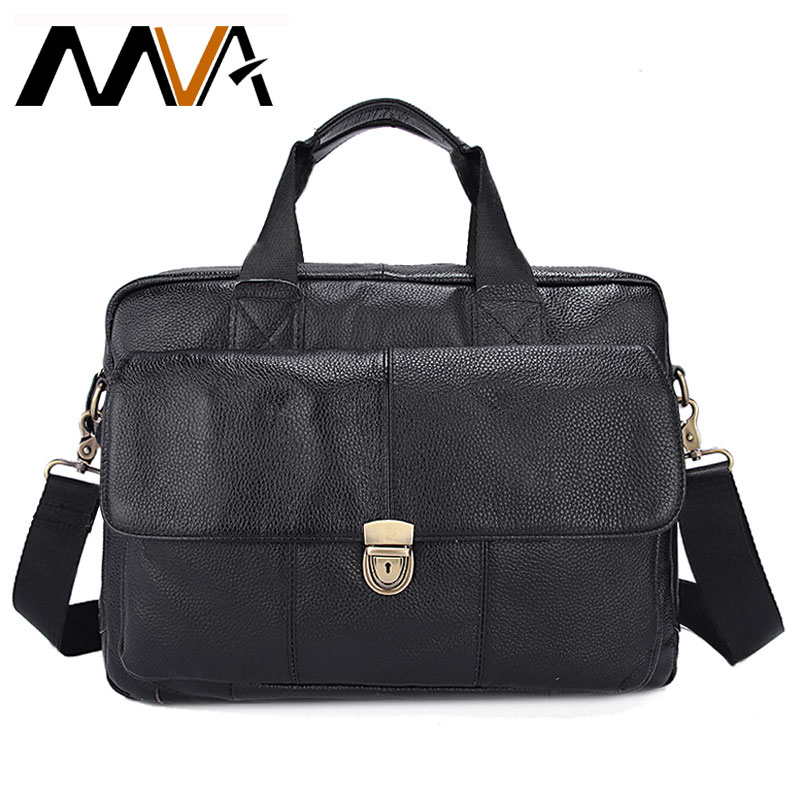 MVA Men's Genuine Leather Bag Office/Laptop/Men's Bag Briefcase Men's Leather Bag Men Business/Computer/Fashion Man Handbag 315