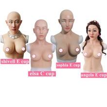 C E чашки огромные искусственные сиськи силиконовые формы груди с поддельные уход за кожей лица для Трансвестит транссексуал