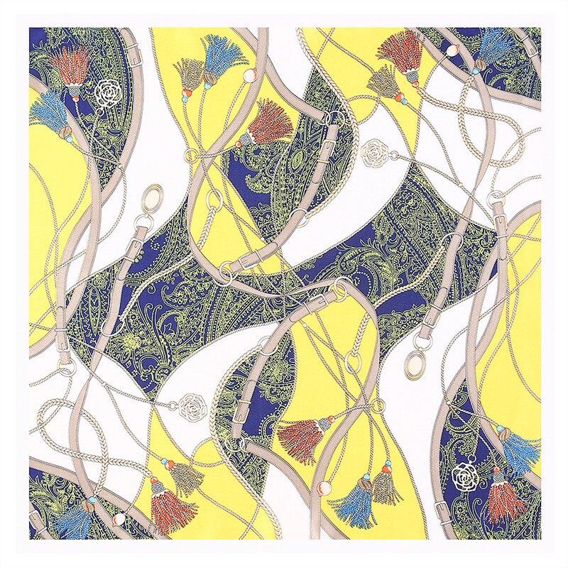 Nachdenklich 53 Cm Klassische Seil Quasten Platz Schals Neue Silk Satin Frauen Schal Sommer Turban Mode Stirnband Band Halstuch Dauerhaft Im Einsatz Bekleidung Zubehör