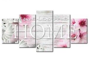 """Image 3 - Fezrgea 5D TỰ LÀM Tranh Gắn Đá """"Home Sweet Home"""" Full Tròn Khoan Nhiều hình Kết Hợp Thêu Hoa Khảm Nhà trang trí"""