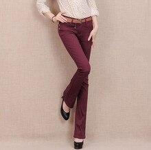 7 конфеты Цвет плюс размер джинсовые тощий ПР джинсы Конфеты цветные клеш женщин комбинезоны эластичные брюки карандаш F3839