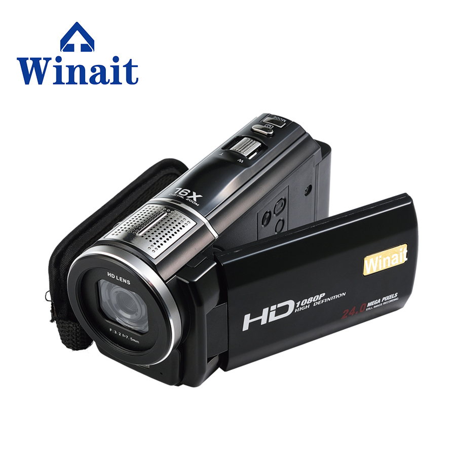 "2017 Free Shipping 64GB Max 24MP 16x digital zoom video camera Professional Camcorder HDV-F5 Vedio  Camera with 3.0""TFT Display"