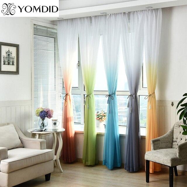 Sfumatura di colore Tulle Tende per la Cucina la Finestra del soggiorno Decorazi