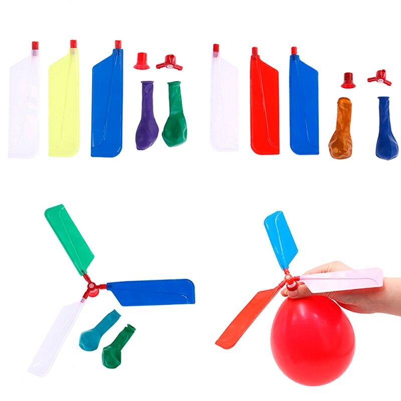 10 Teile/los Spielzeug Bälle Luftballons Hubschrauber Fliegen Mit Pfeife Propeller Kid Spielzeug Kinder Im Freien Spielen Kreative Lustige Spielzeug
