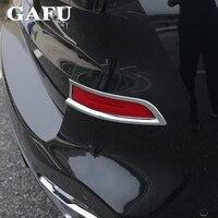 2 pçs estilo do carro para bmw x5 g05 2019 capa de luz nevoeiro traseira cauda luzes nevoeiro capa quadro abs exterior acessórios|Estilo de cromo|   -