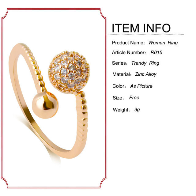 Newest 925 Sterling Silver Luxury Dazzling Wedding gold color crystal ball Silver Ring for Women High Quality Fine Jewelry anill