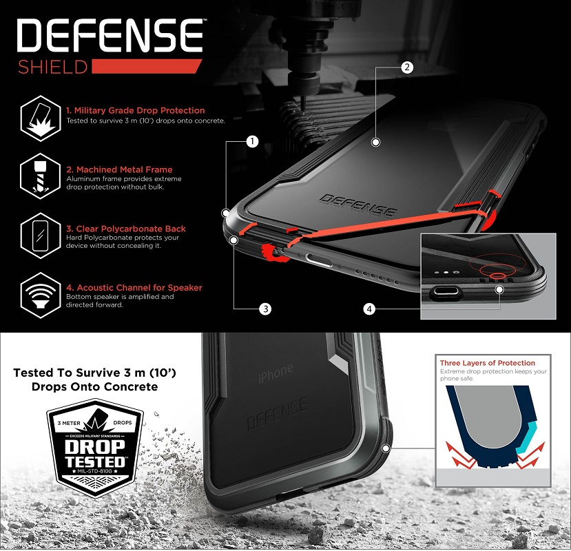 c4703ce88a094f X Doria Defense Shield Phone Case For iPhone 7 8 Plus Case Military Grade  Drop Tested Aluminum Protective Coque For iPhone 7 8 -in Fitted Cases from  ...