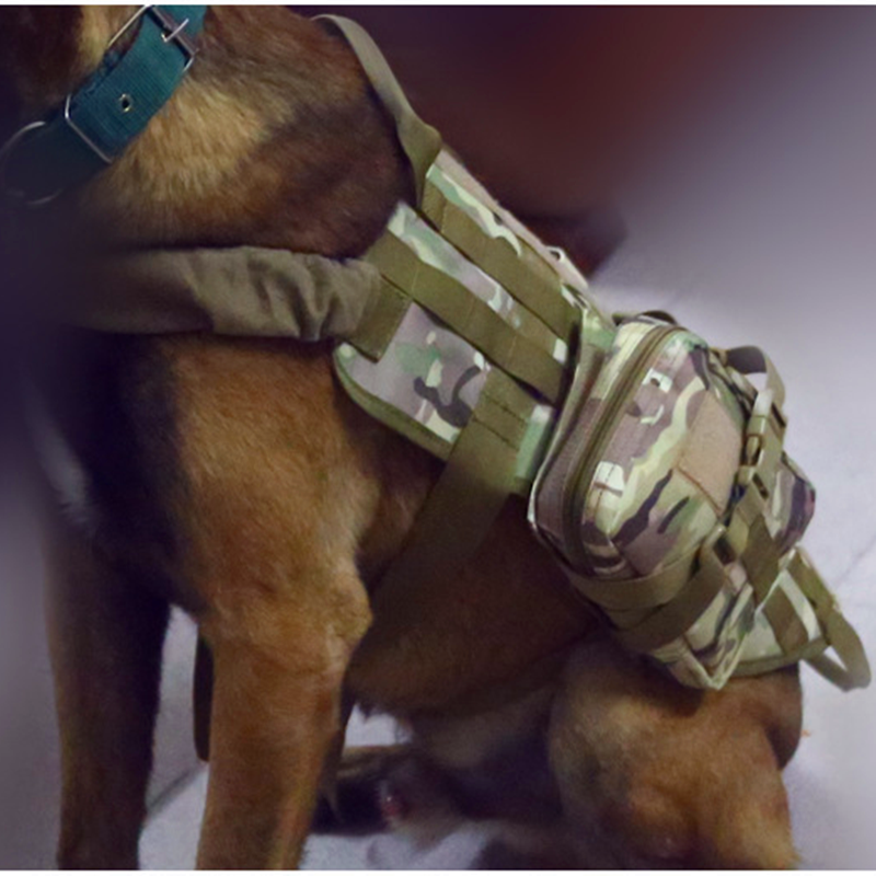 New Outdoor Army Tactical Dog Lost Clothes Suit Vest with Accessory Kit Police Dogs Pet Clothes