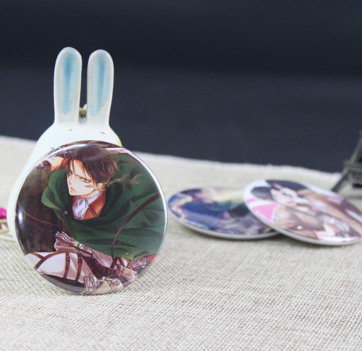 Image 2 - 5 Pcs Hot Sale Anime Attack on Titan Cosplay Badge Cartoon Brooch Pins Collection Bags Badges for Backpacks Button Clothes Toys-in Action & Toy Figures from Toys & Hobbies