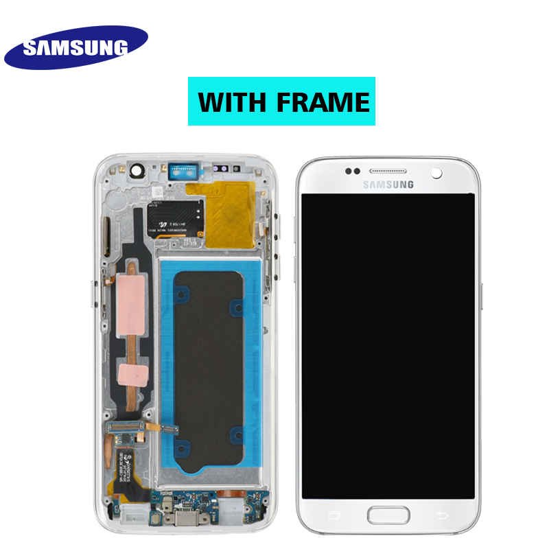 HTB1IyQ9S6TpK1RjSZKPq6y3UpXaO ORIGINAL 5.1'' SUPER AMOLED LCD For Samsung Galaxy S7 G930 SM-G930F G930F LCD Display With Touch Screen Digitizer Replacement