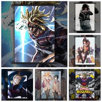 Boku no My Hero Academia Eraser Head All Might Present Mic Anime manga wall Poster Scroll G недорого