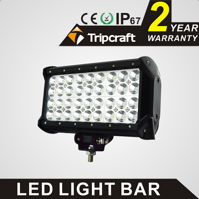 TRIPCRAFT 108W LED WORK LIGHT BAR Quad Row Spot flood combo beam car driving lamp for offroad 4x4 truck ATV fog lamp 6.75inch tripcraft 126w led work light bar 20inch spot flood combo beam car light for offroad 4x4 truck suv atv 4wd driving lamp fog lamp