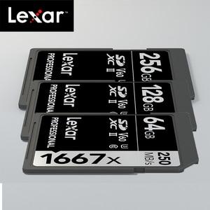 Image 5 - Original Lexar 1667x up to 250MB/s Flash Memory sd card 64GB 128GB V60 UHS II U3 Card high speed 256GB SDXC For 3D 4K HD video