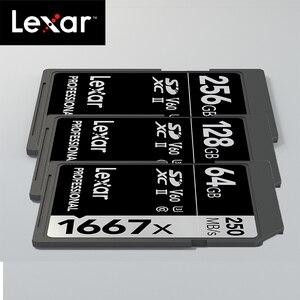 Image 5 - Originele Lexar 1667x tot 250 MB/s Flash Memory sd kaart 64GB 128GB V60 UHS II U3 Kaart hoge speed 256GB SDXC Voor 3D 4K HD video