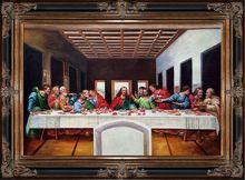 The Last Supper by Leonardo Da Vinci Handpainted