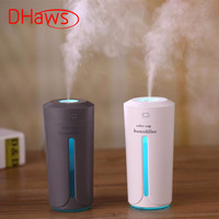 DHaws 230ml Mini Air Humidifier USB Ultrasonic Humidifier Car Aroma Diffuser Electric Essential Oil Diffuser Cup LED Lights