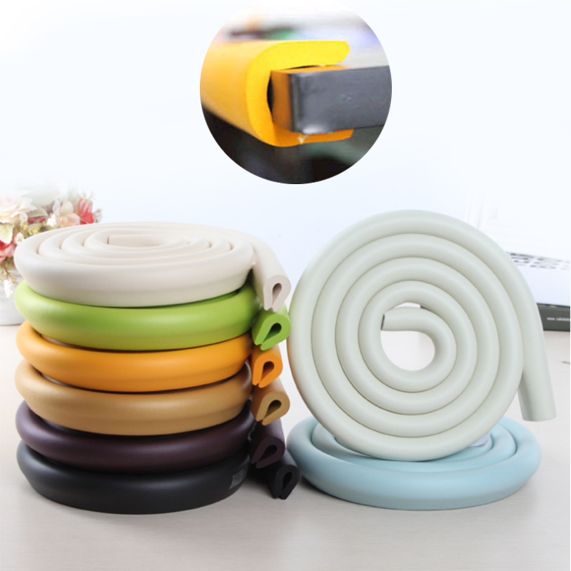 2M Children Protection Table Guard Strip Baby Safety Products Glass Edge Furniture Horror Crash Bar Corner Foam Bumper Collision(China)