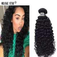 2PCS Brazilian Jet Black Curly Hair Extensions 7A 10-30″ Jet Black Hair Bundles Tissage Color 1 Jet Black Human Hair Weave EJ201