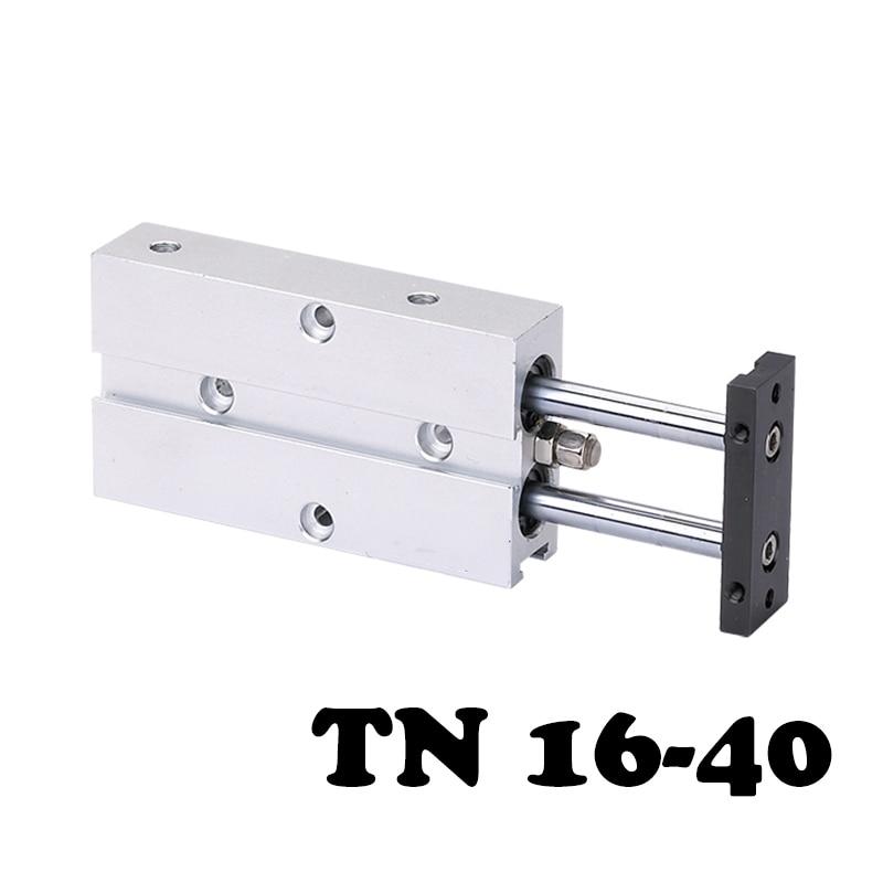 TN16-40 double  shaft double  bar action of aluminum alloy rod pneumatic cylinderTN16-40 double  shaft double  bar action of aluminum alloy rod pneumatic cylinder