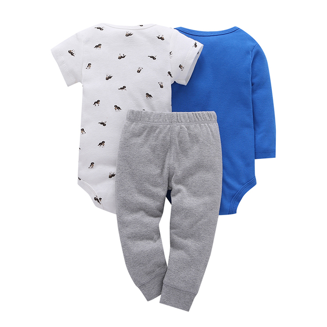 Children brand Body Suits 3PCS Infant Body Cute Cotton Fleece Clothing Baby Boy Girl Bodysuits 2018 New Arrival free shippin 4