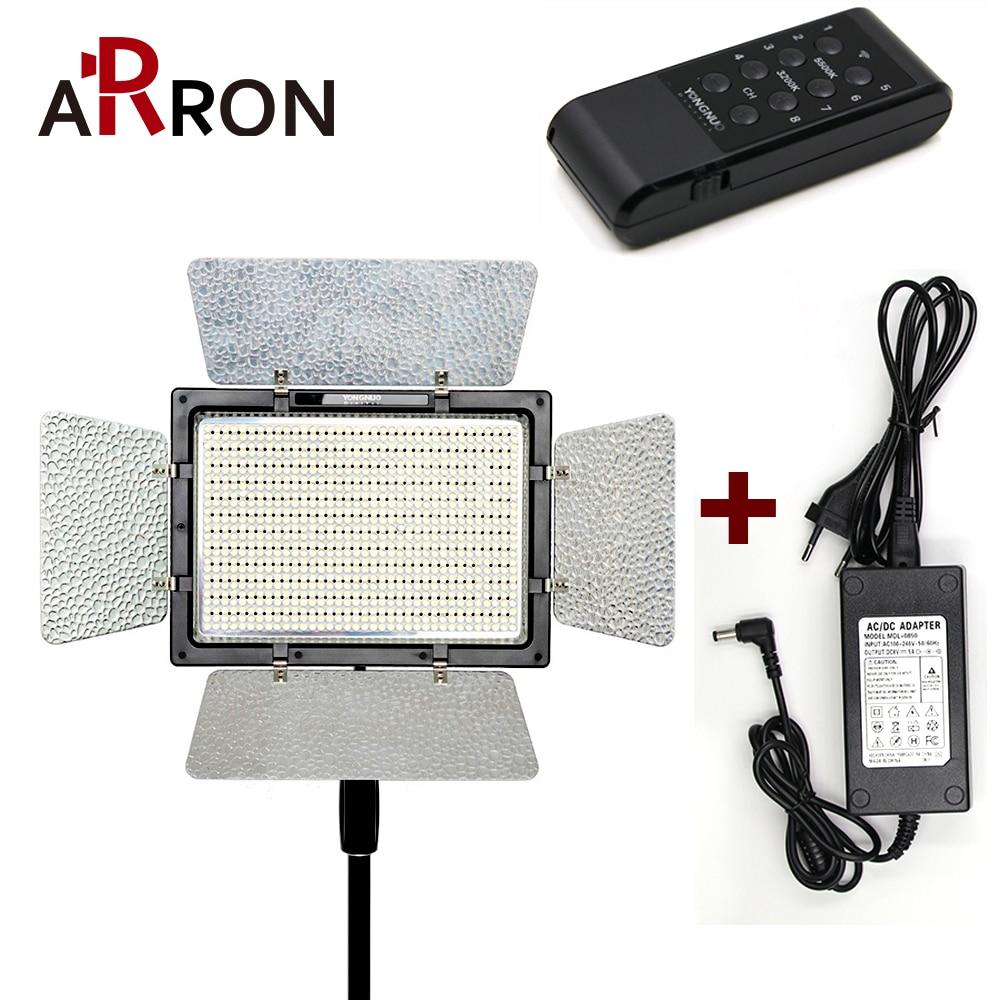 YONGNUO YN900 avec Adaptateur secteur, YN-900 Haute CRI 95 3200 K-5500 K LED Vidéo Panneau Lumineux