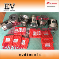 Para Mitsubishi motor reconstruir peças 6D24 6D24T pistão pistão + anel definir 23411-83411