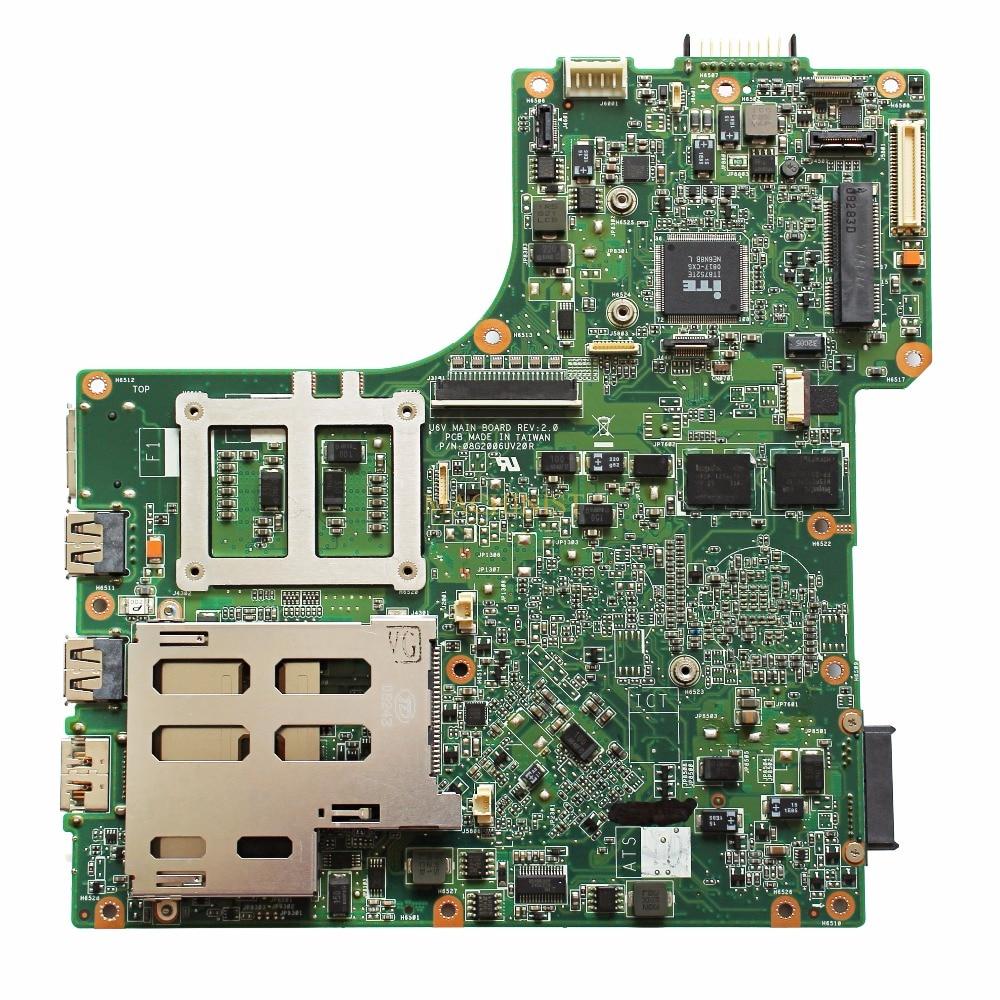 08G2006UV20R For ASUS U6V laptop motherboard REV2.0 PM45 PGA478 DDR2 9300M 08G2006UV20R 100% tested intact 1