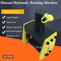 Manual Hydraulic Bending Machine 90 Degree Bending Machine Hydraulic Bus Copper And Aluminum Row Bending Machine CB 200D