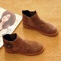 Botas de Inverno da moda para As Mulheres 2016 Martin Botas Mulher Botas de Marca No Tornozelo botas De Pele Linning Sapatos Inverno Quente Plus Size 9 Frete Grátis