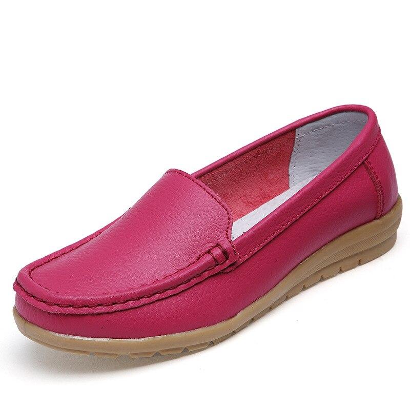 De Conducción Color Negro Redonda Planos Zapatos Cómodos blanco rojo Salvaje verde Punta Las Mujeres 4 Mocasines Transpirable 2016 Los 1xH565
