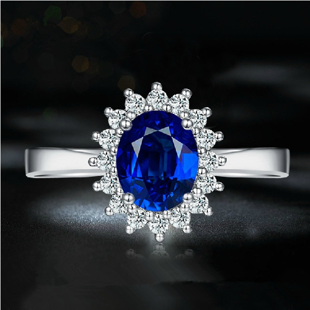 Lady Elegant 18k White Gold Wedding Ring Real Natural Sri Lanka 0 90ct Blue Sapphire Ring Free Cost By Dhl Ems Tnt Ups Fedex Ring Designs With Stones Ring Buyingring Wedge Aliexpress