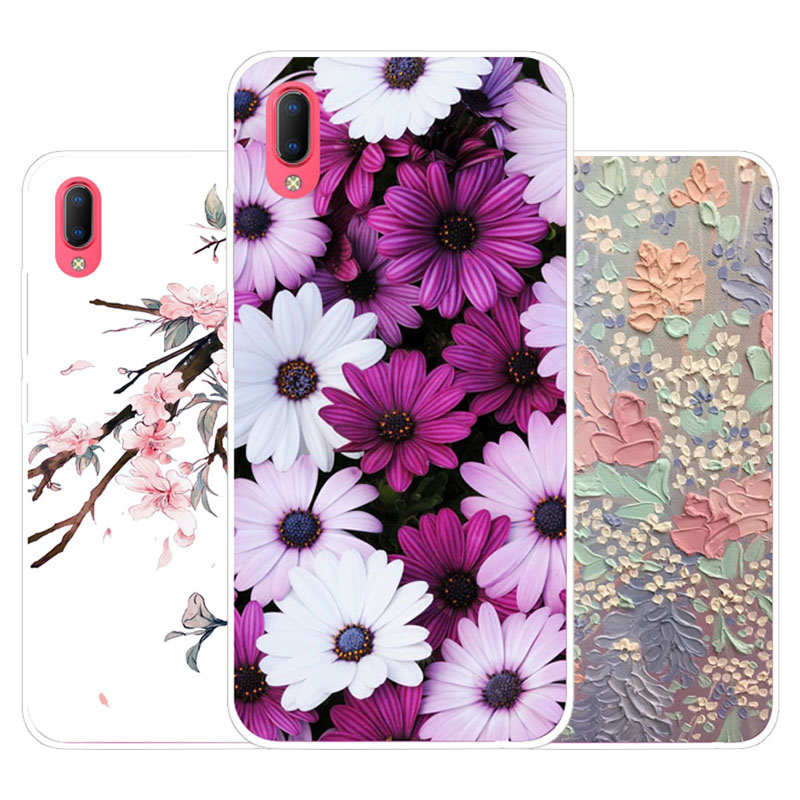 Vivo Y93S Y93 Case,Silicon Precious flower Painting Soft TPU Back Cover for Vivo Y93S Y93 protect Phone cases