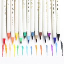 עטי קליגרפיה מברשת רכה 20 צבעים חדשים Ayron סמן גרפיטי סמן מברשת צבעי מים ציור אמנות מרקר עט Fineliner מנגה