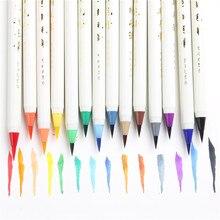 Ayron 20 Farben Neue Kalligraphie Stifte Weichen Bürste Marker Aquarell Pinsel Marker Graffiti Manga Zeichnung Art Marker Fineliner Stift