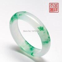 Yang flor ola verde nuevo pozo de hielo piedra pulsera femalecolor xinjiang hetian pulseras