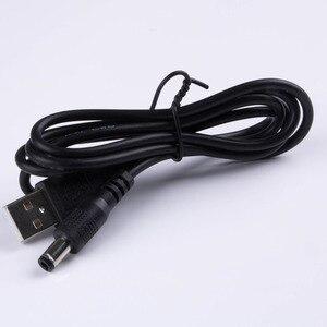 Image 4 - 送料無料 USB dc 5.5*2.5 ミリメートル 5.5/2.5 ミリメートルバレル電源ジャックアダプタのプラグ充電ケーブル 24AWG ワイヤ 3.2ft/1.0 メートルの黒、白角
