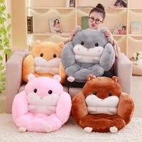 1pc Cartoon Soft Chair Seat Cushion Cute Hamster Pillow Seat Pad Padded Cushion Office Home Decor