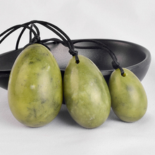 Drilled Yoni Eggs Green Jade Massage Stones Viginal Muscle Contraction Reiki Healing Natural Massager Health Care Kegel Exercise