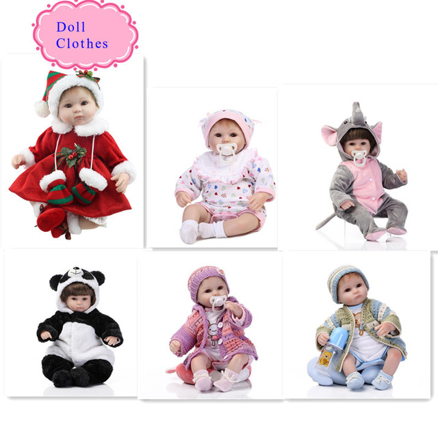 Wholesale 18 Inch Christmas Reborn Baby Doll Clothes Hot Sell 45cm Reborn Baby Doll Clothes Best Doll Accessories For Kids