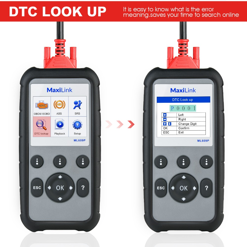 Image 2 - Autel MaxiLink ML609P Auto Diagnostic Tool Code Reader OBD2 Code Scan Tool View Freeze Frame Data Diagnostic tool Car Scanner-in Engine Analyzer from Automobiles & Motorcycles
