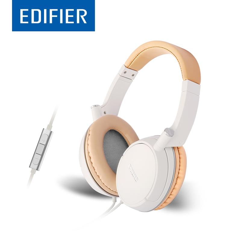 EDIFIER P841 Over-Ear HiFi Headphones Double Line Noise Isolating Comfortable Headset With Mic Flip Ear Design