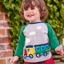 Little maven children brand baby boy clothes 2019 autumn boys cotton long sleeve tops cloth train t shirt 51533