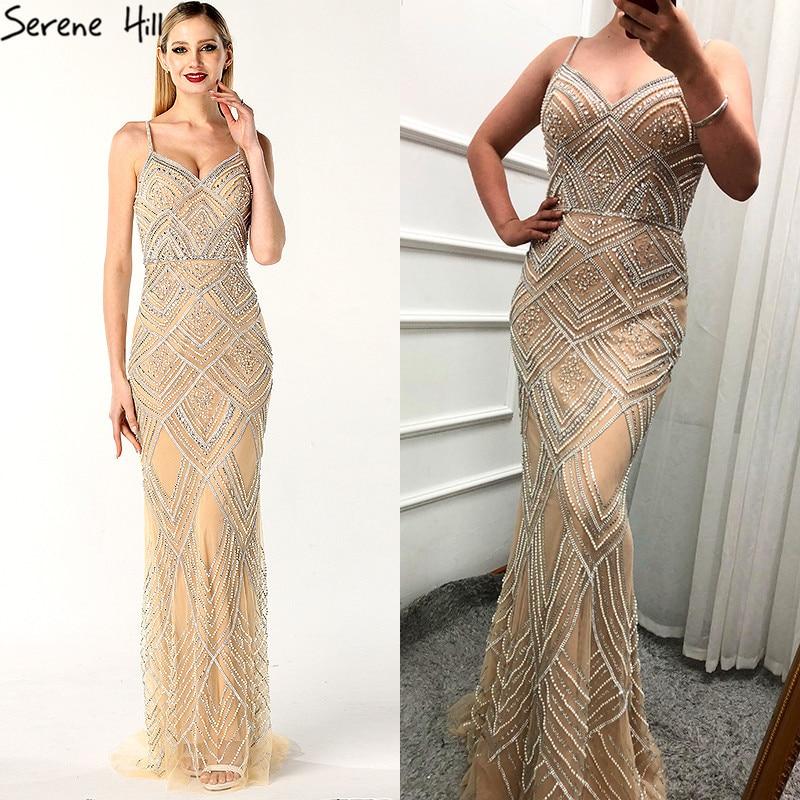 dddb405b4eb3d Hot Sale] Dubai New Luxury Sexy Sleeveless Evening Dresses Mermaid ...