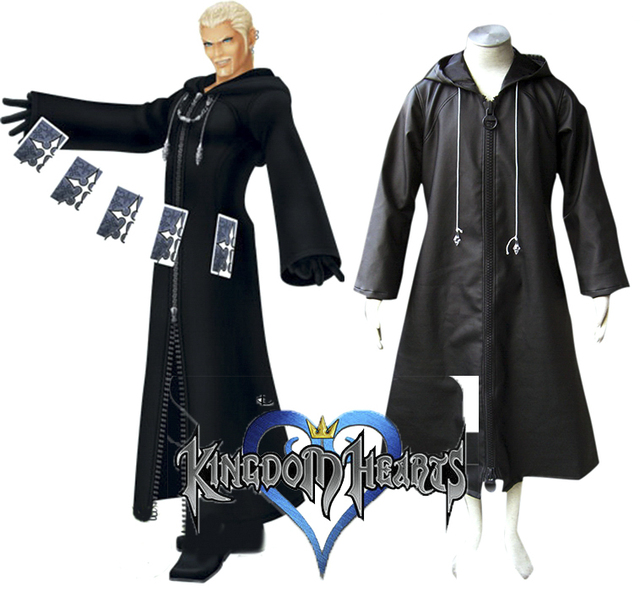 Free Shipping Kingdom Hearts Organization XIII 1st Uniform Game Cosplay  Costume 5fd1654875cd