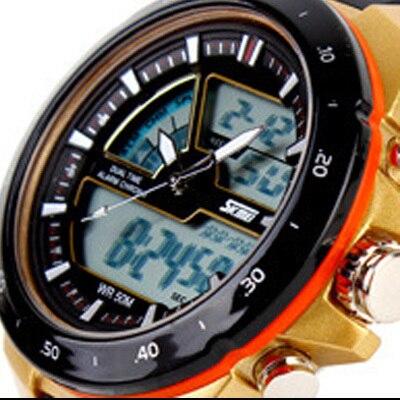 50M Waterproof Mens Sports Watches Relogio Masculino 2016 Hot Men Silicone Sport Watch Reloj S Shockproof Electronic Wristwatch
