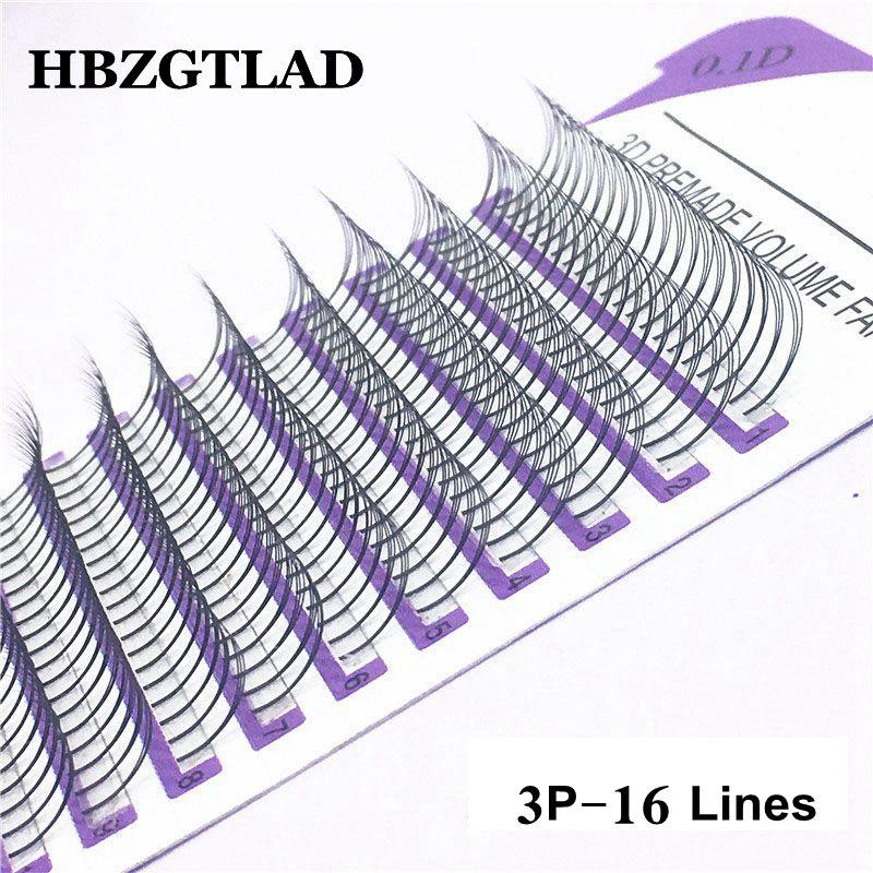 Накладные ресницы HBZGTLAD, 16 линий, 3D Искусственные ресницы, Искусственные ресницы