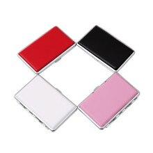 1PC New Arrival Storage PU Card Case Metal PU Cigar Storage Boxes