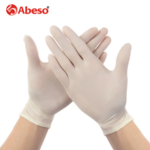 ABESO latex Electronic disposable gloves  for food home cleaning Acid Alkali resistance antiskid 100 pcs/ box golves A7105