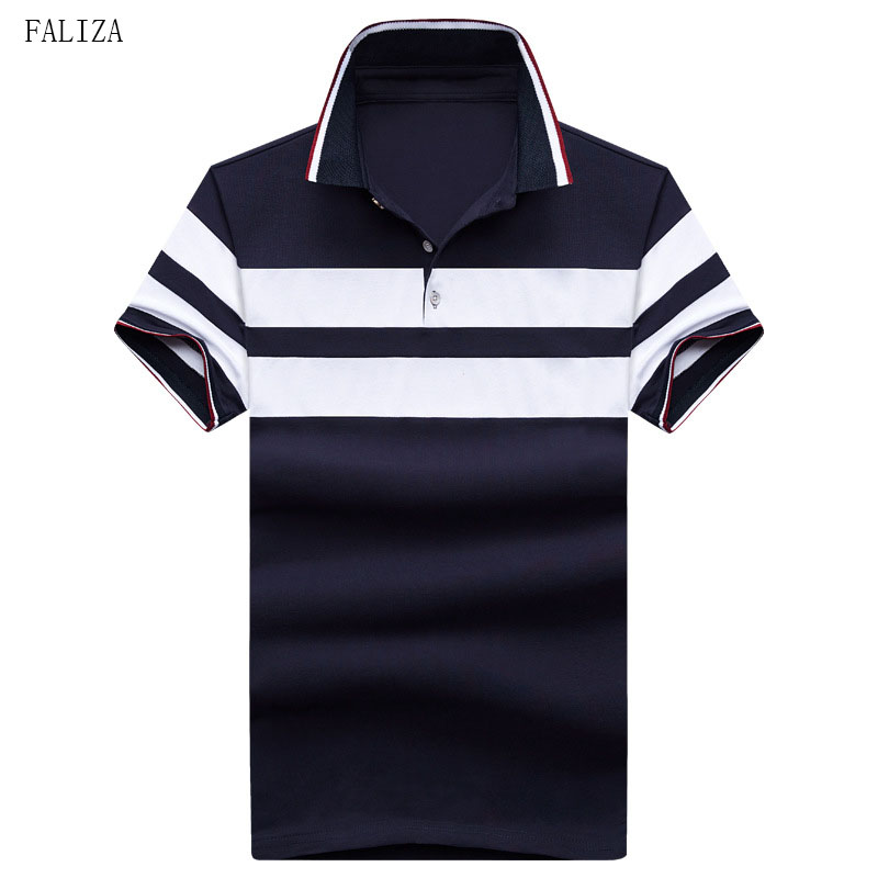 2018 High Quality Striped Men's   Polos   Cotton Breathable Short Sleeve Boys   Polos   Shirts Casual Turndown Collar Male   Polos   TX-118