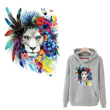 flower lions large patches for clothing cool Iron on heat demin  A-level washable stickers christmas gift girls boys
